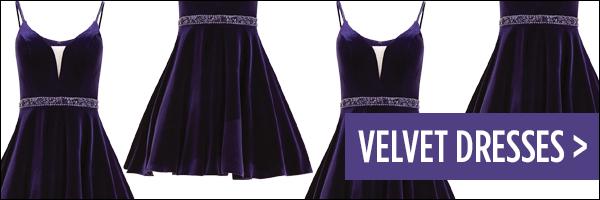 Homecoming 2017 Trend Velvet Dresses