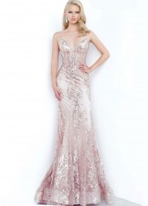 Jovani 3675 Rose Gold Prom Dress