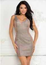 Lucci Lu 4040 Copper Metallic Homecoming Dress