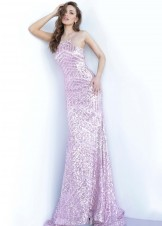 Jovani 4132 Sequins Pink Prom Dress