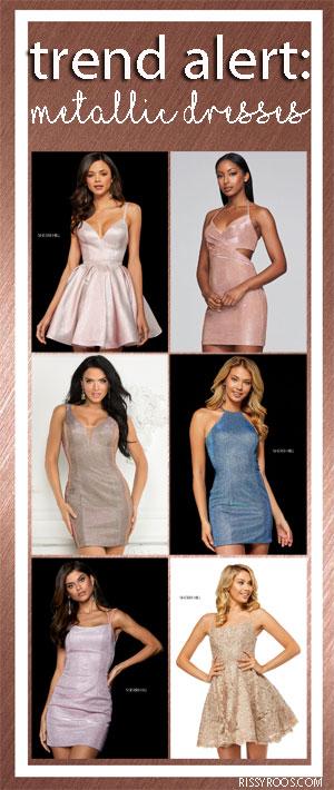 Metallic Homecoming Dresses Trend Alert